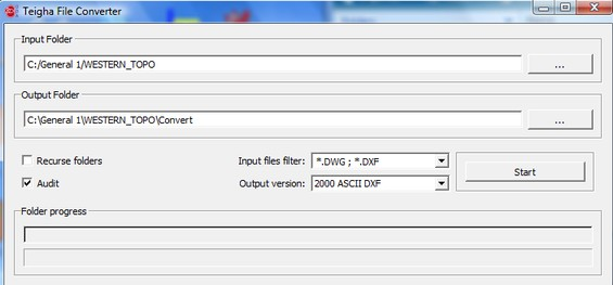 how to create ascii format file